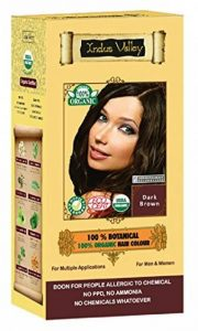 100% Organic 100% Botanical Natural Herbal Hair Dye Colour For Men and Women 100% Chemical Free, No PPD, No Ammonia, No Peroxide and No Heavy Metals Whatsoever (Dark Brown) de la marque Indus Valley image 0 produit