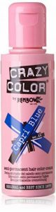 4 x Crazy Colour Semi Permanent Hair Dyes 100ml (Capri Blue) de la marque Renbow image 0 produit