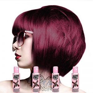 Crazy Colour Semi Permanent Hair Dye By Renbow Burgundy No.61 (100ml) Box of 4 de la marque Renbow image 0 produit