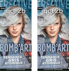 got2b L'Explosive Coloration Semi Permanent Bomb'Art Argent 098 - Lot de 2 de la marque GOT-2B image 0 produit