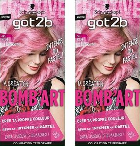 got2b la Décadente 093 Coloration Semi Permanent Bomb'Art Rose - Lot de 2 de la marque GOT-2B image 0 produit