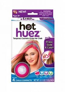 Hot Huez 4 Pack Temporary Bright Coloured Hair Chalk Kit de la marque Hot Huez image 0 produit