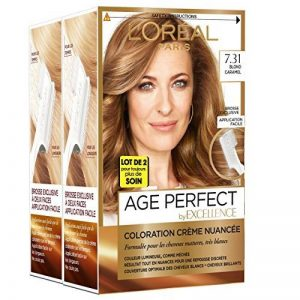 L'Oréal Paris - Excellence Age Perfect - Coloration Permanente Cheveux Matures & Très Blancs - Nuance 7,31 Blond Caramel - Lot de 2 de la marque LOréal-Paris image 0 produit